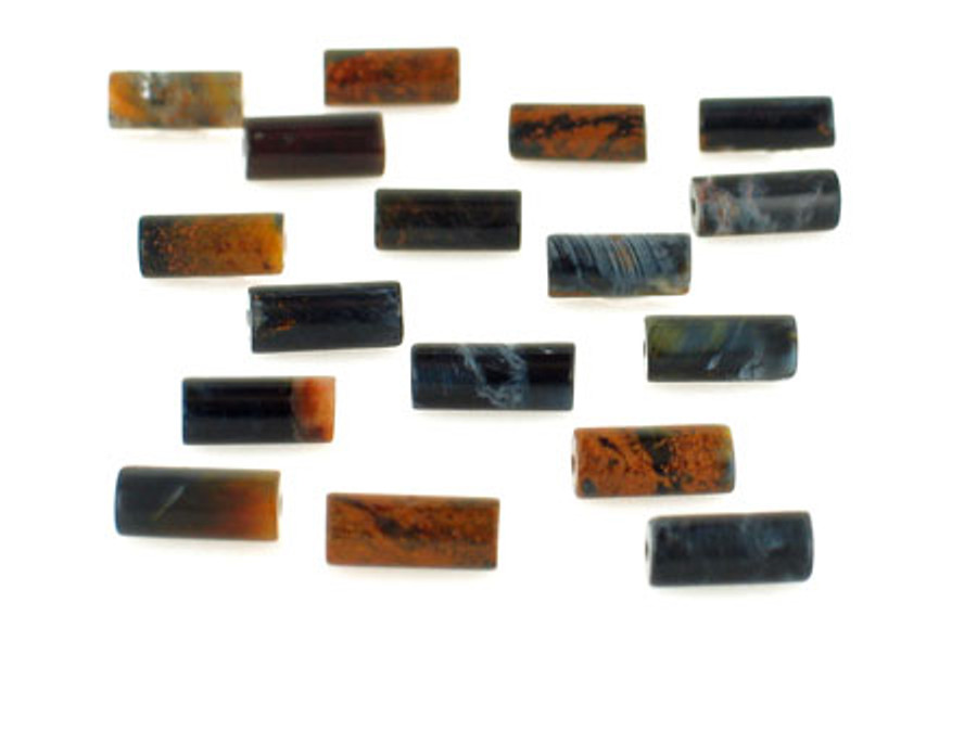 19 Count 11x4mm Namibian Pietersite Polished Tubes (Sale)