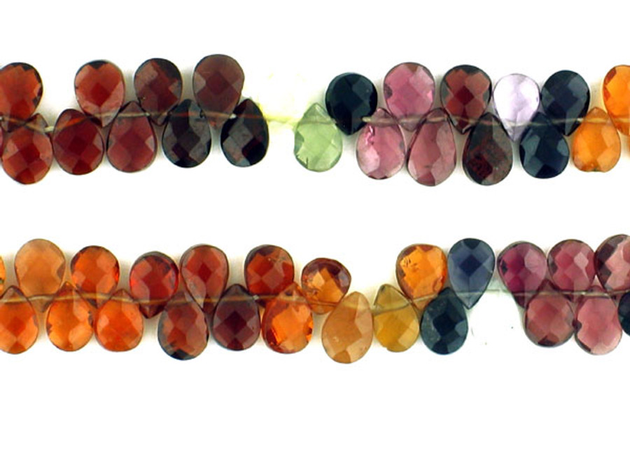 75 Count 5-6mm Multi Color Spinel Faceted Pear (Sale)