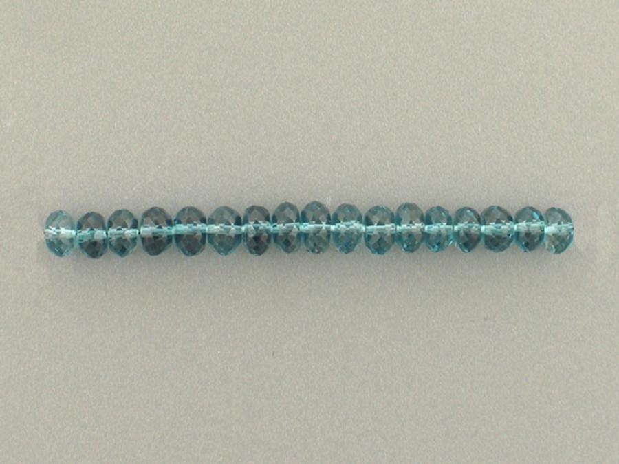 16 Count 5mm London Blue Topaz Multi-Faceted Rondelles (Sale)