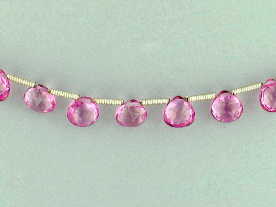 20 Count 6mm Pink Topaz Faceted Pear (Sale)