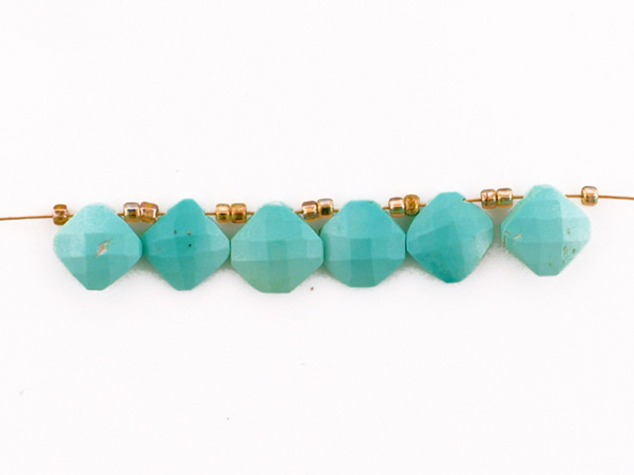 6 Count Varied Sizes Sleeping Beauty Turquoise Faceted Cushions (Sale)