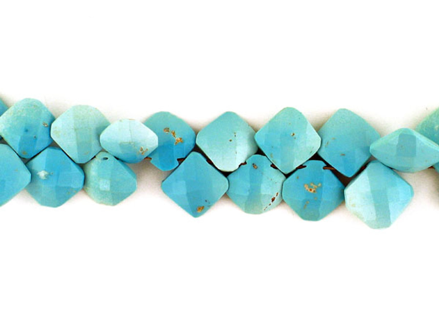 44 Count Varied Size Sleeping Beauty Turquoise Faceted Top Drilled Diamonds (Sale)