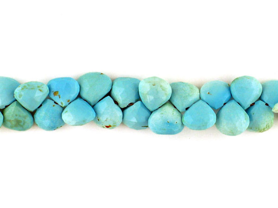 50 Count Varied Size Sleeping Beauty Turquoise Faceted  Pears (Sale)