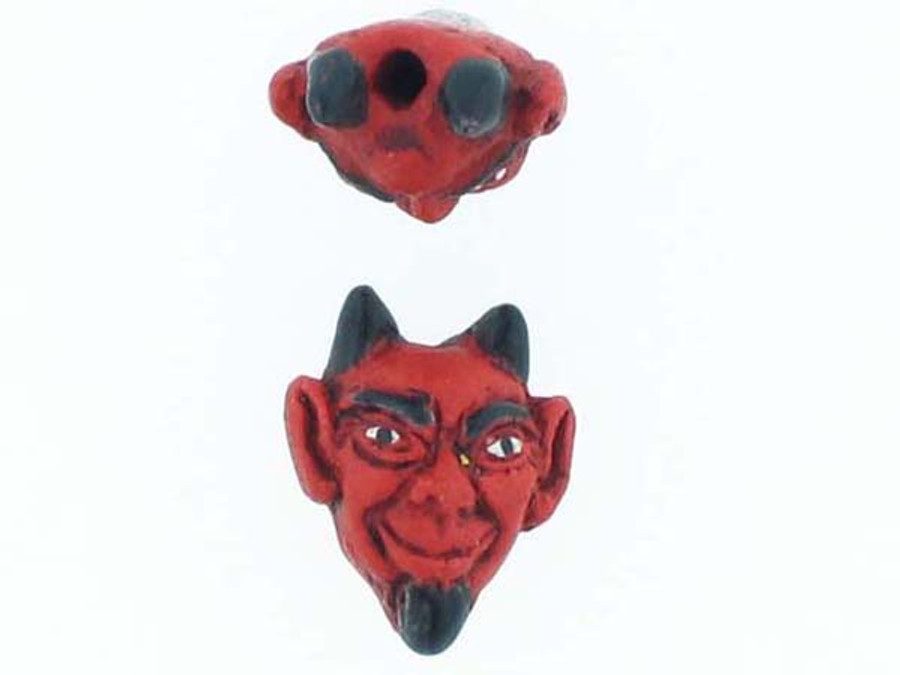 6 Count Devil Ceramic Teeny Tiny Beads (Sale)