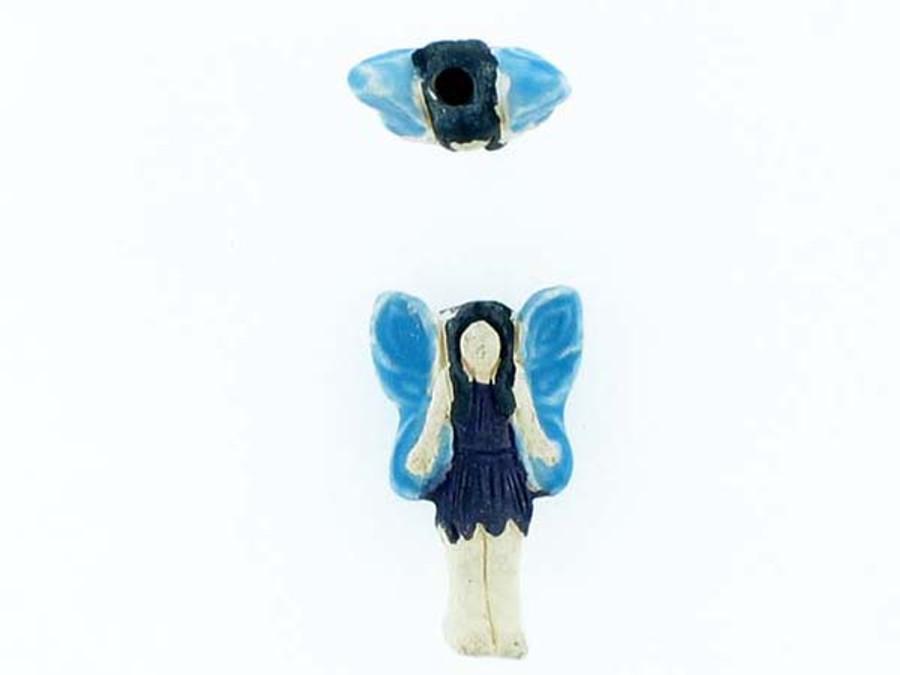 6 Count Blue Fairy Ceramic Teeny Tiny Beads (Sale)