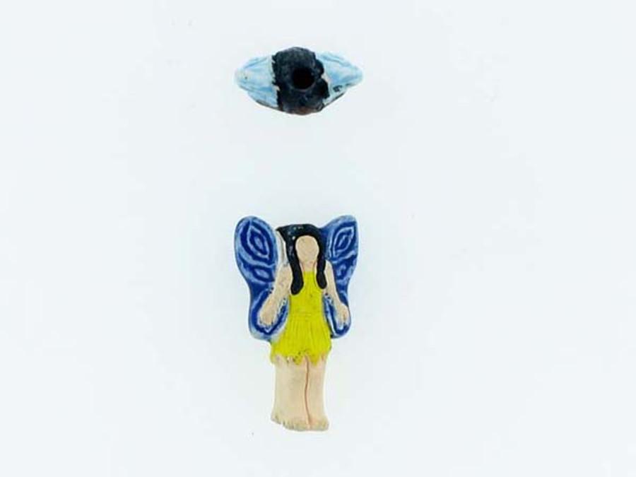 6 Count Mixed Color Fairy Ceramic Teeny Tiny Beads (Sale)