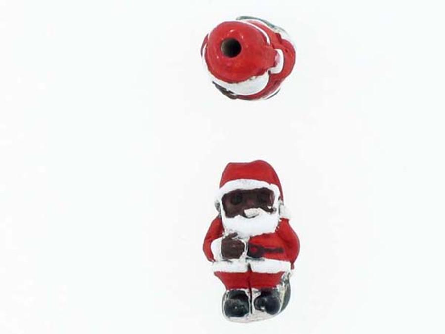 6 Count Black Santa Ceramic Teeny Tiny Beads (Sale)