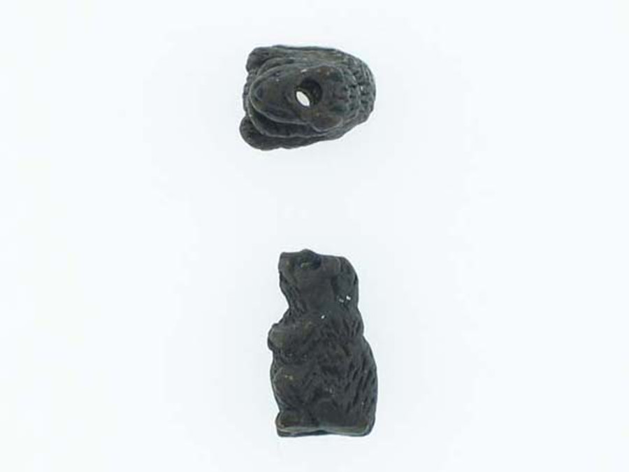 6 Count Beaver Ceramic Teeny Tiny Beads (Sale)