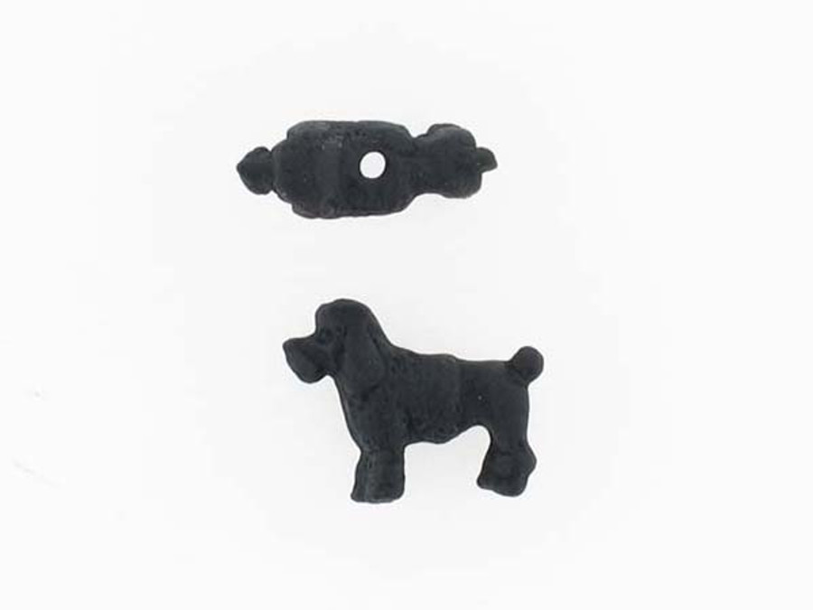 6 Count Black Poodle Ceramic Teeny Tiny Beads (Sale)