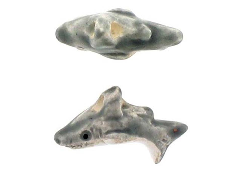 6 Count Shark Ceramic Teeny Tiny Beads (Sale)