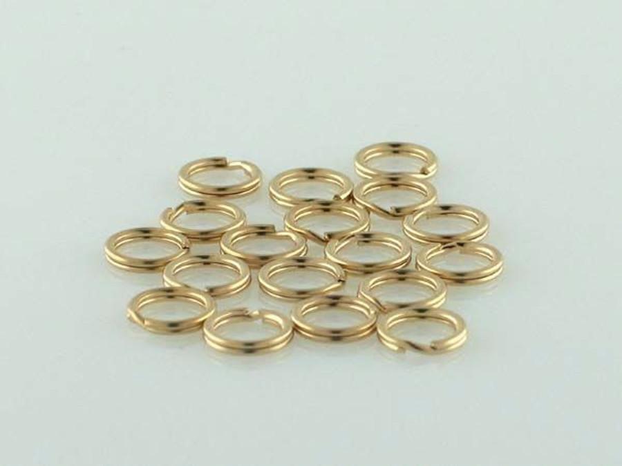 25 Count 6mm Gold Filled Split Ring