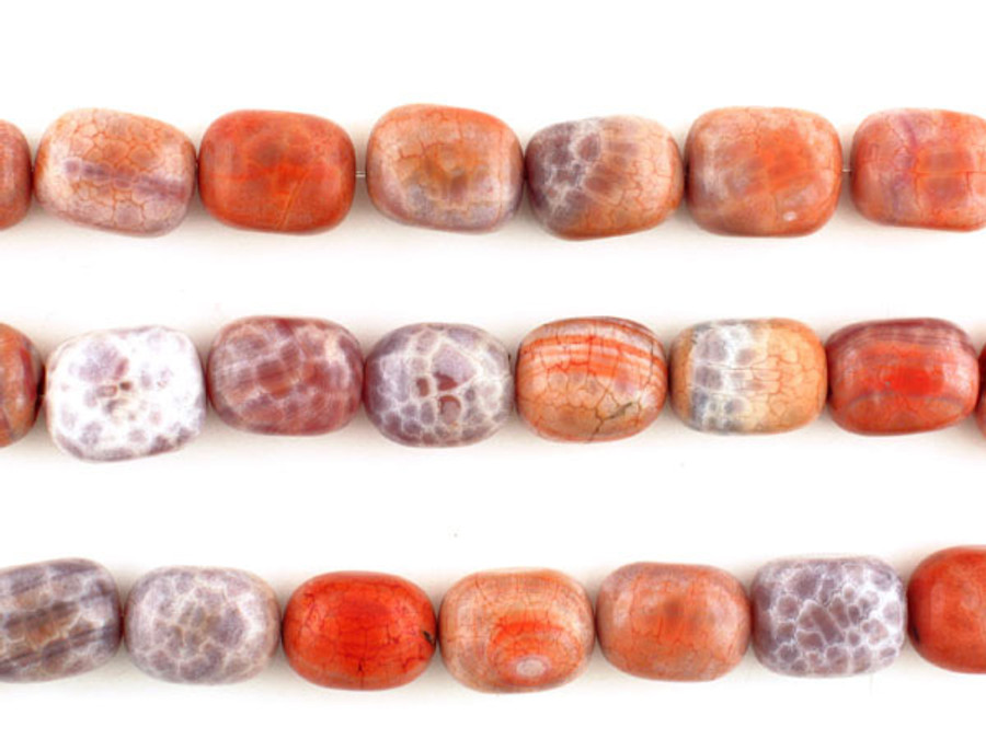 21 Count 20x15mm Fire Agate Polished Nuggets (Sale)