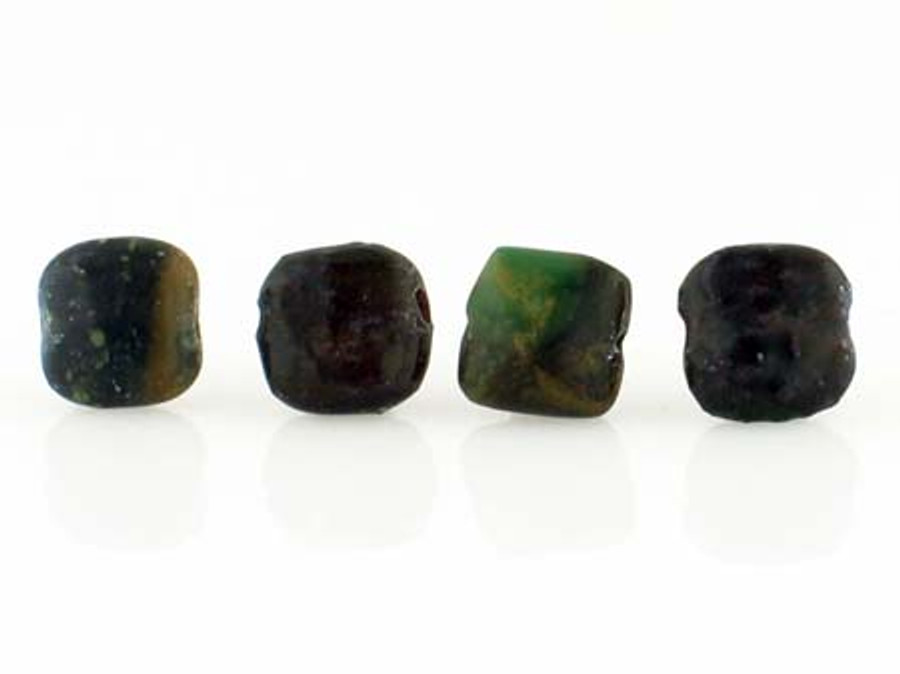 Apx 20 Count 8x8mm Green Turquoise Polished Squares (Sale)
