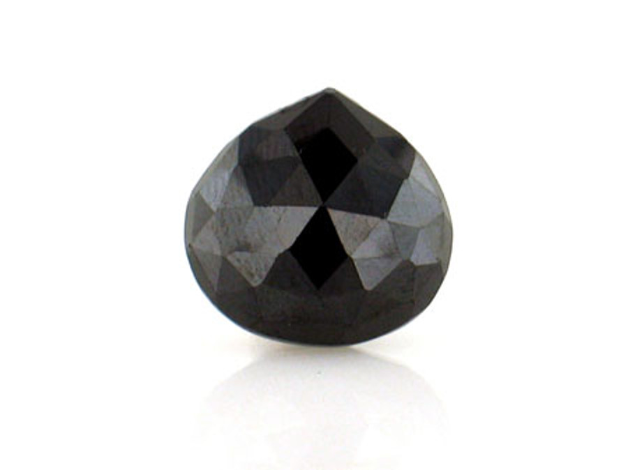 Black Cz Faceted Pear
