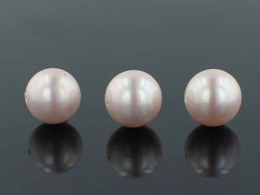 29 Count 14mm Pink Faux  Pearl Rounds (Sale)