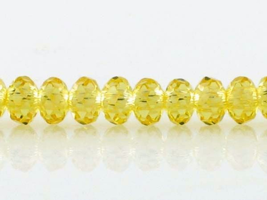 78 Count 4mm Citrine Cz Faceted Rondelles (Sale)
