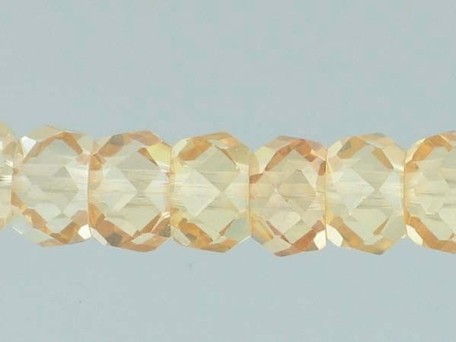 40 Count 8mm Champagne Cz Faceted Rondelles (Sale)