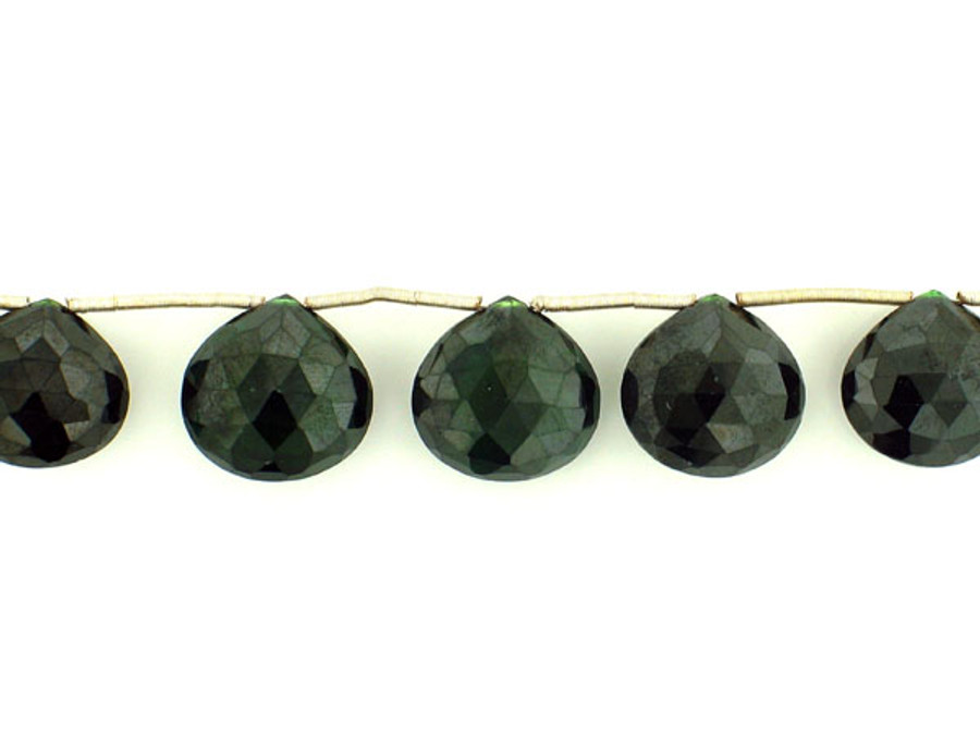 9 Count 13-17mm  Green Cz Faceted Pear (Sale)
