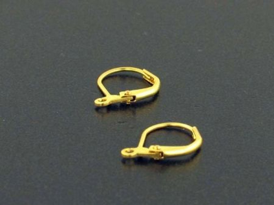 Brass Leverback Earrings With Open Ring - 1 Pair