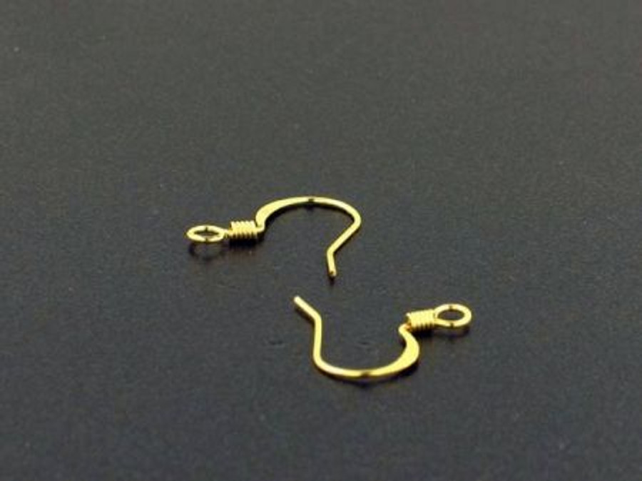Brass Fish Hook Ear Wires - 1 Pair