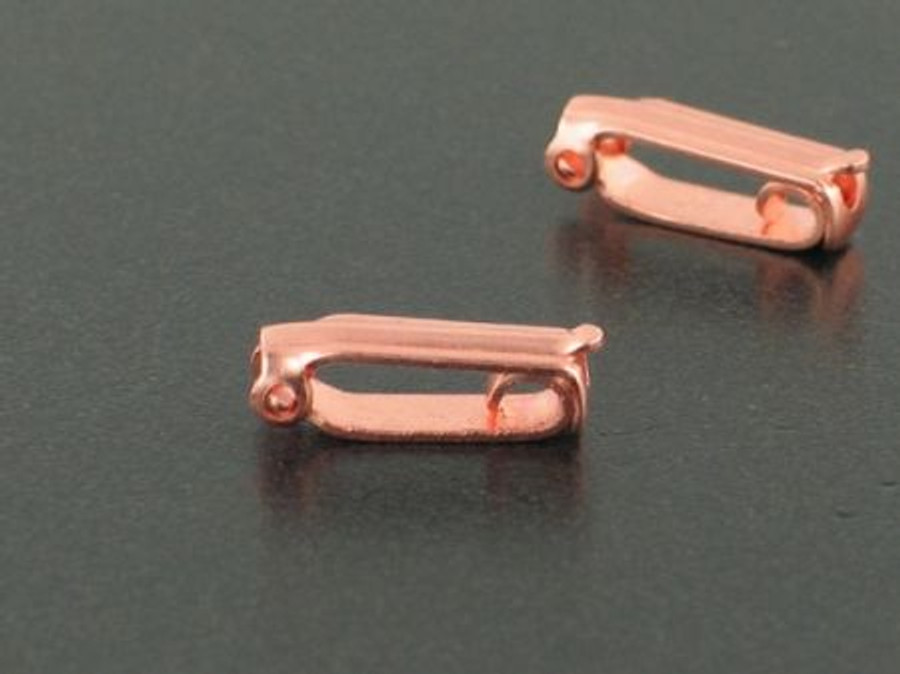 Copper Simple Fold Over Clasp - 2 Count