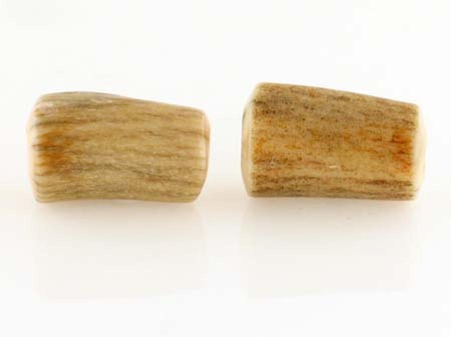 2 Count 20mm Elk Antler Natural Branch Tubes (Sale)