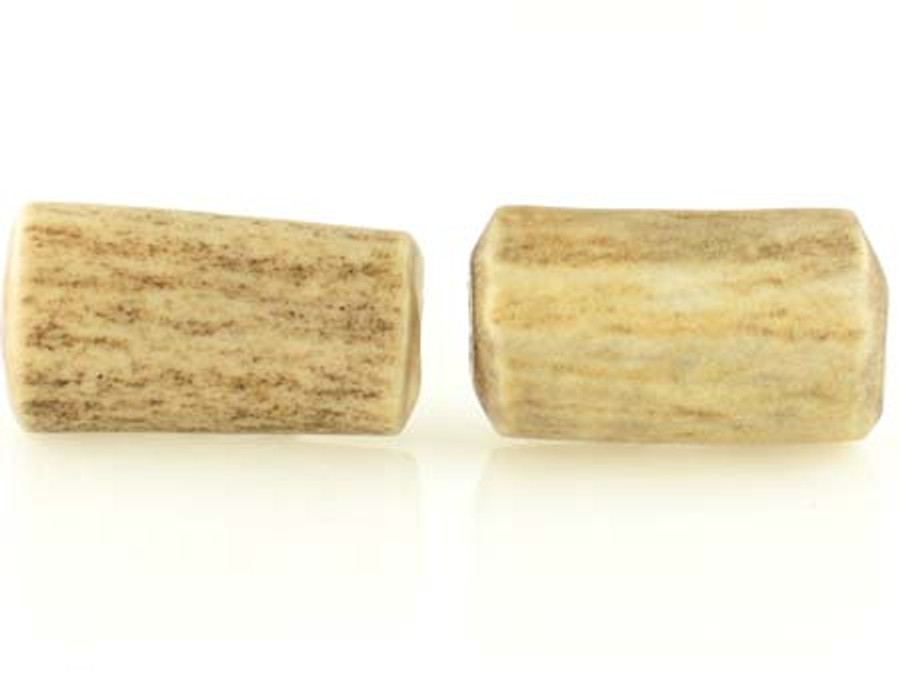 2 Count 25mm Elk Antler Natural Branch Tubes (Sale)