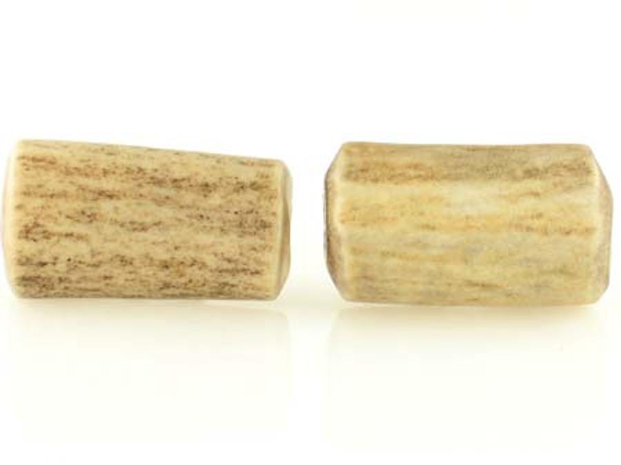 2 Count 25mm Elk Antler Natural Branch Tubes (Sale)