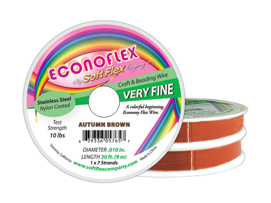 Econoflex Hobby Beading Wire - Autumn Brown (Closeout)