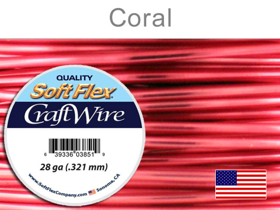 15 Yds 28 Ga Silver Plated Coral Soft Flex Craft Wire (Closeout)