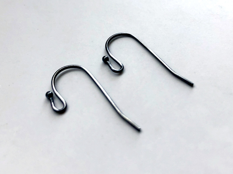Gun Metal 22g Ear Wires With Ball - 20 Count
