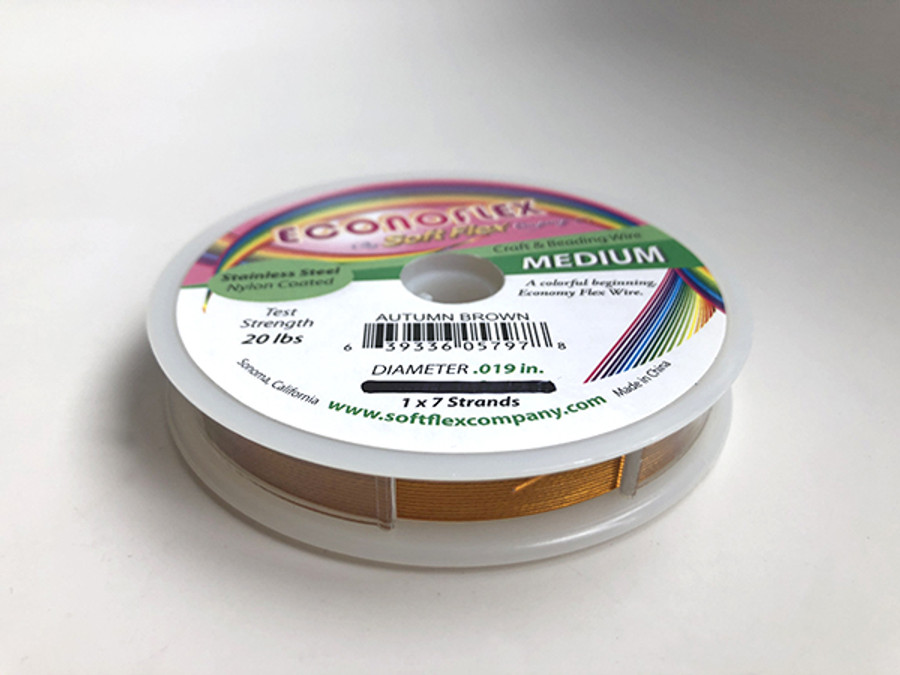 Econoflex Hobby Beading Wire - Autumn Brown (Outlet Sale)