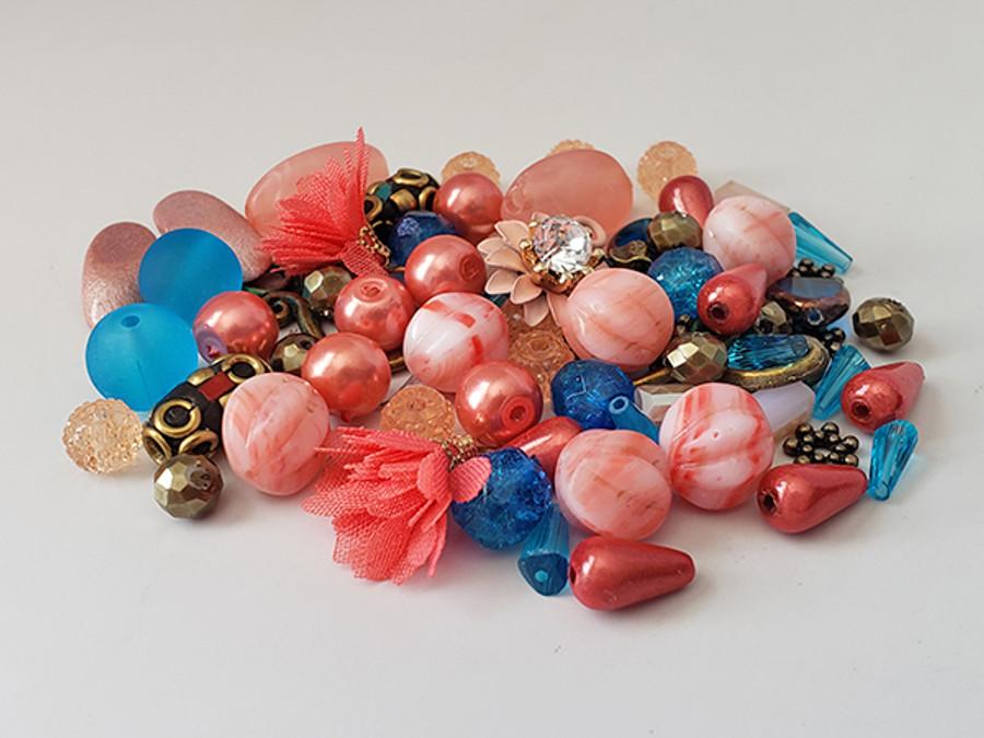 Shades of Coral Bead Mix