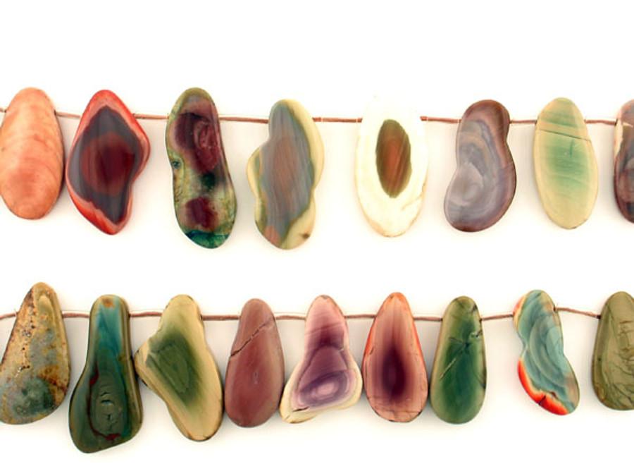 23 Count Varied Size Multicolor Imperial Jasper Polished Slices (Sale)