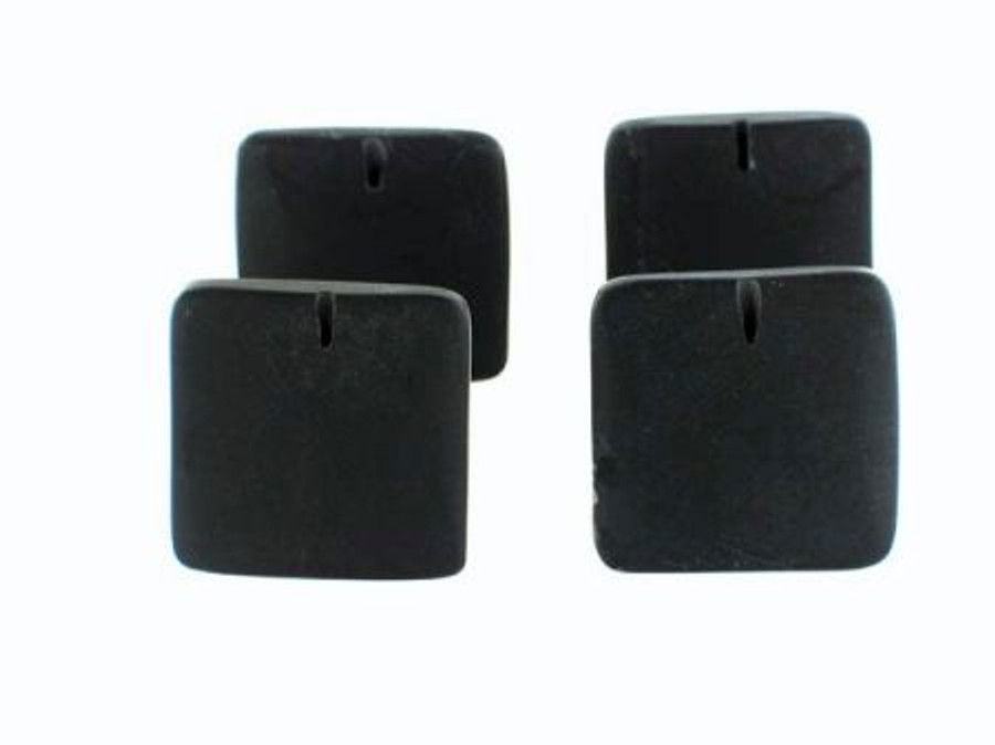 7 Count 24x24mm Black Onyx Matte Finish Overlap Squares (Sale)