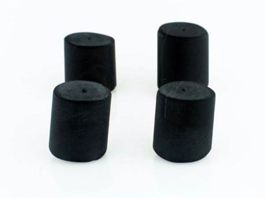 7 Count 27x18mm Black Onyx Matte Fin Overlap Cylinders (Sale)