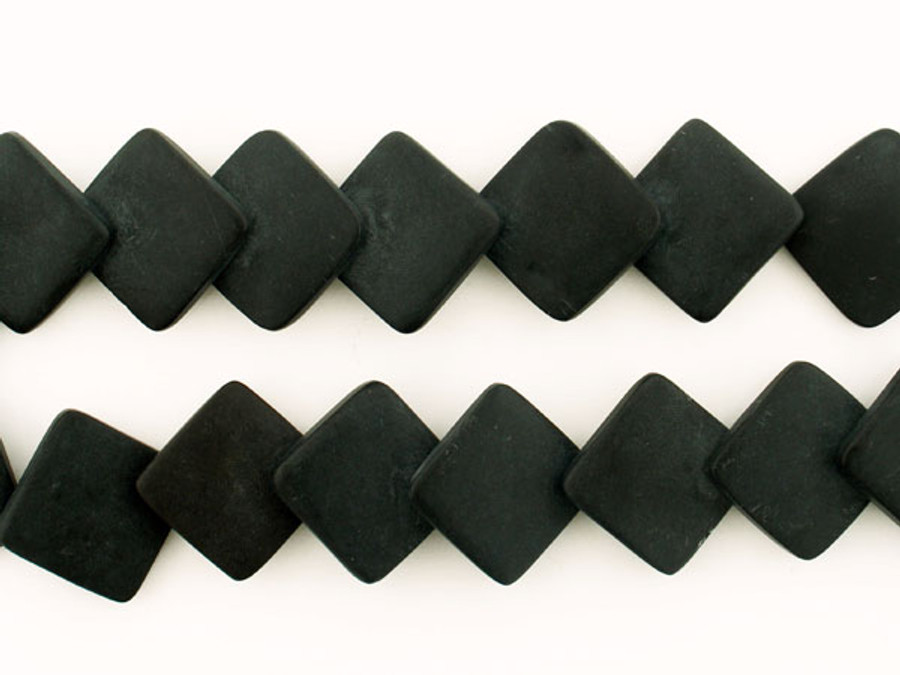 18 Count 33x33mm Matte Finish Onyx Overlapping Diamonds (Sale)