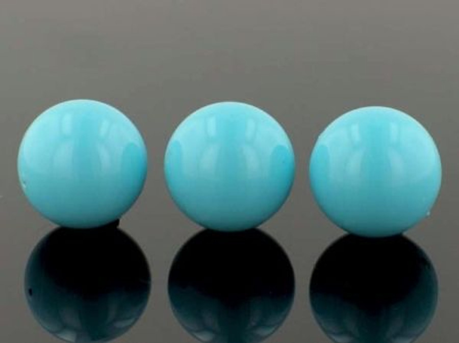 23 Count 18mm Light Blue Shell Pearls (Sale)