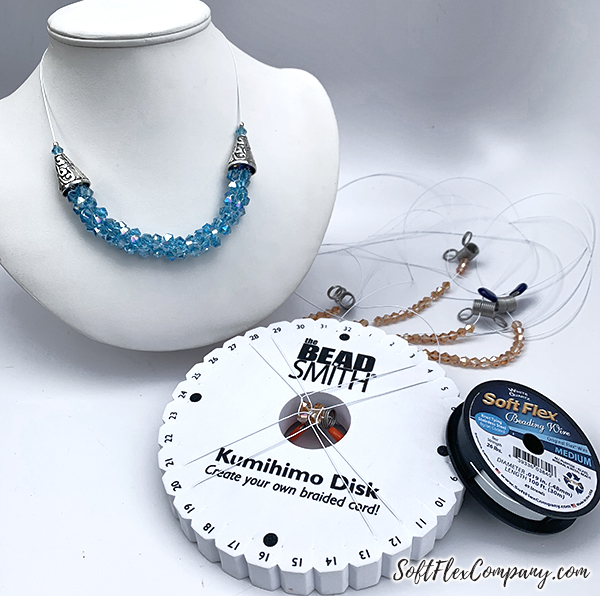 Beaded Kumihimo Designs Using Soft Flex Beading Wire by Sara Oehler