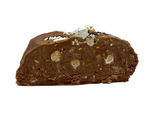Chocolate Birthday Cake Fudge