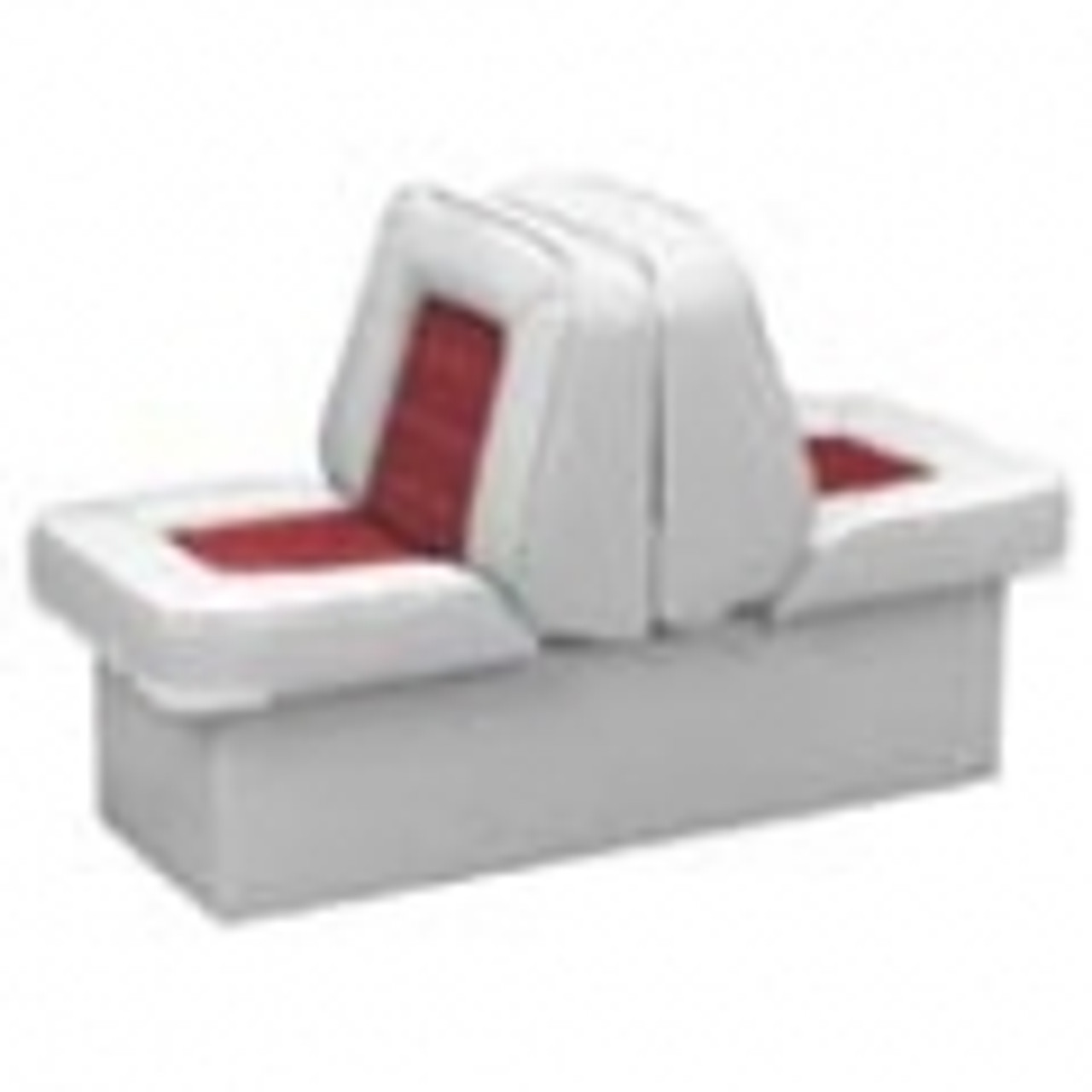 """Boat Seat Cover Back to Back Double Seat Storage Cover 50/""""L x 22/""""W x 22/""""H Gray"""
