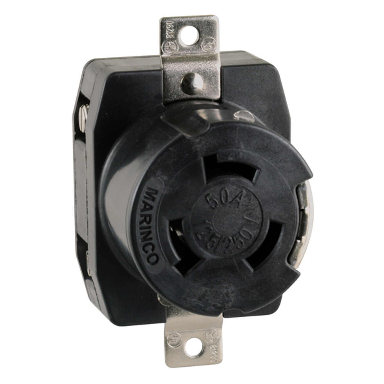 Marinco 50 Amp S Power Receptacle on
