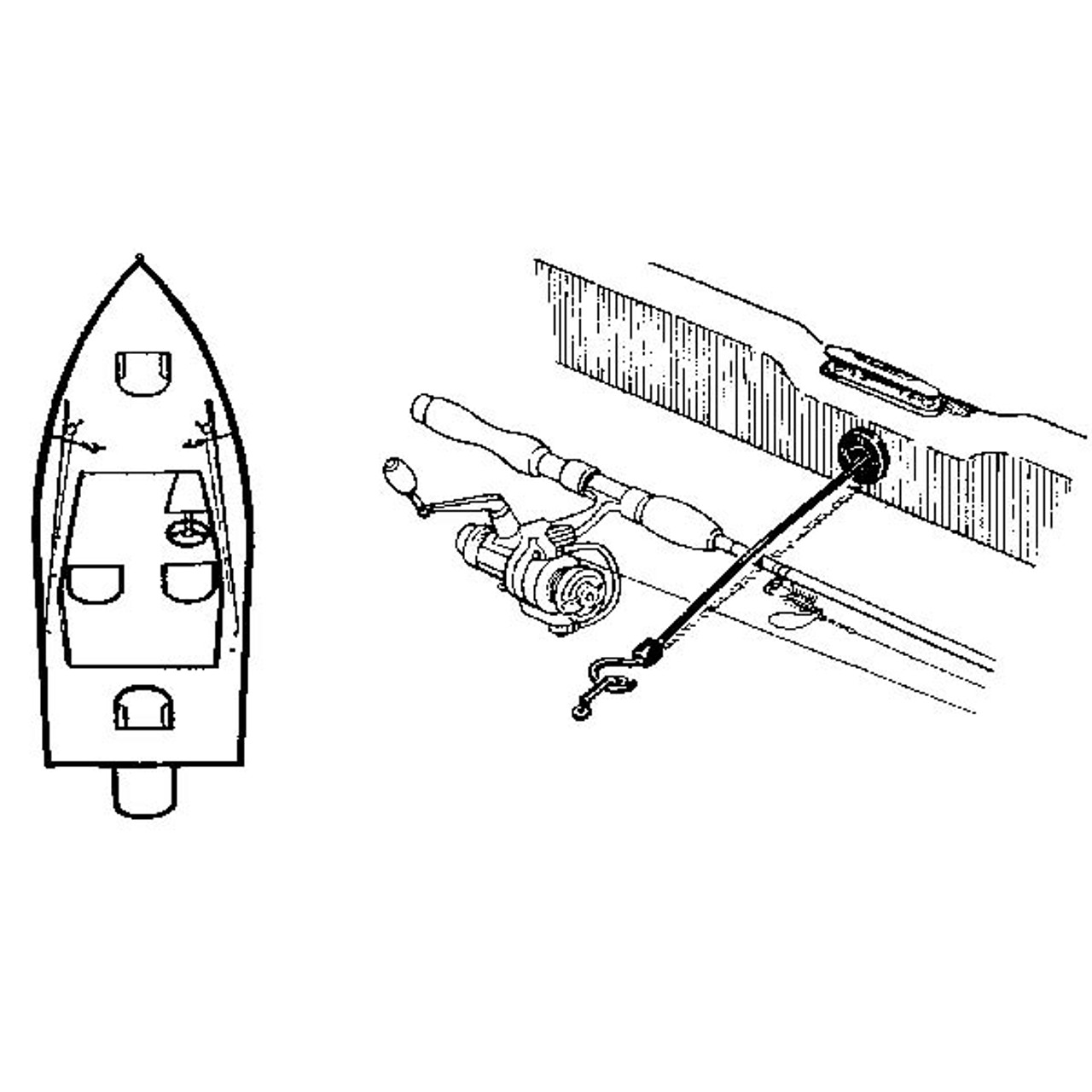 """Marine Fishing Boat Retractable Rod Hold Down Strap 12/"""""""