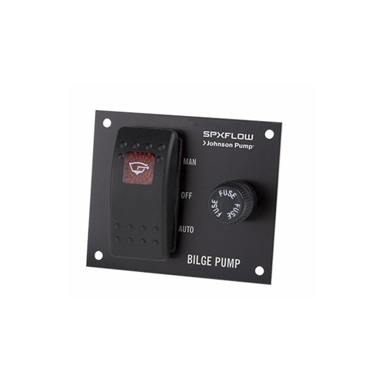 Johnson Pumps 82044 Bilge Pump 3-Way Panel Switch 12V