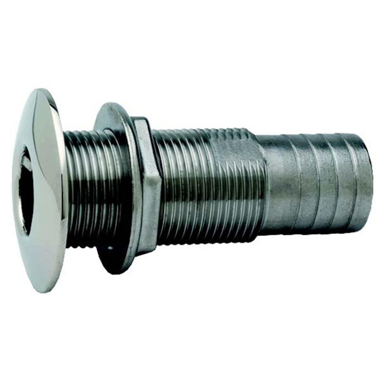 Chromed Straight Thru-Hull Fitting 3//4