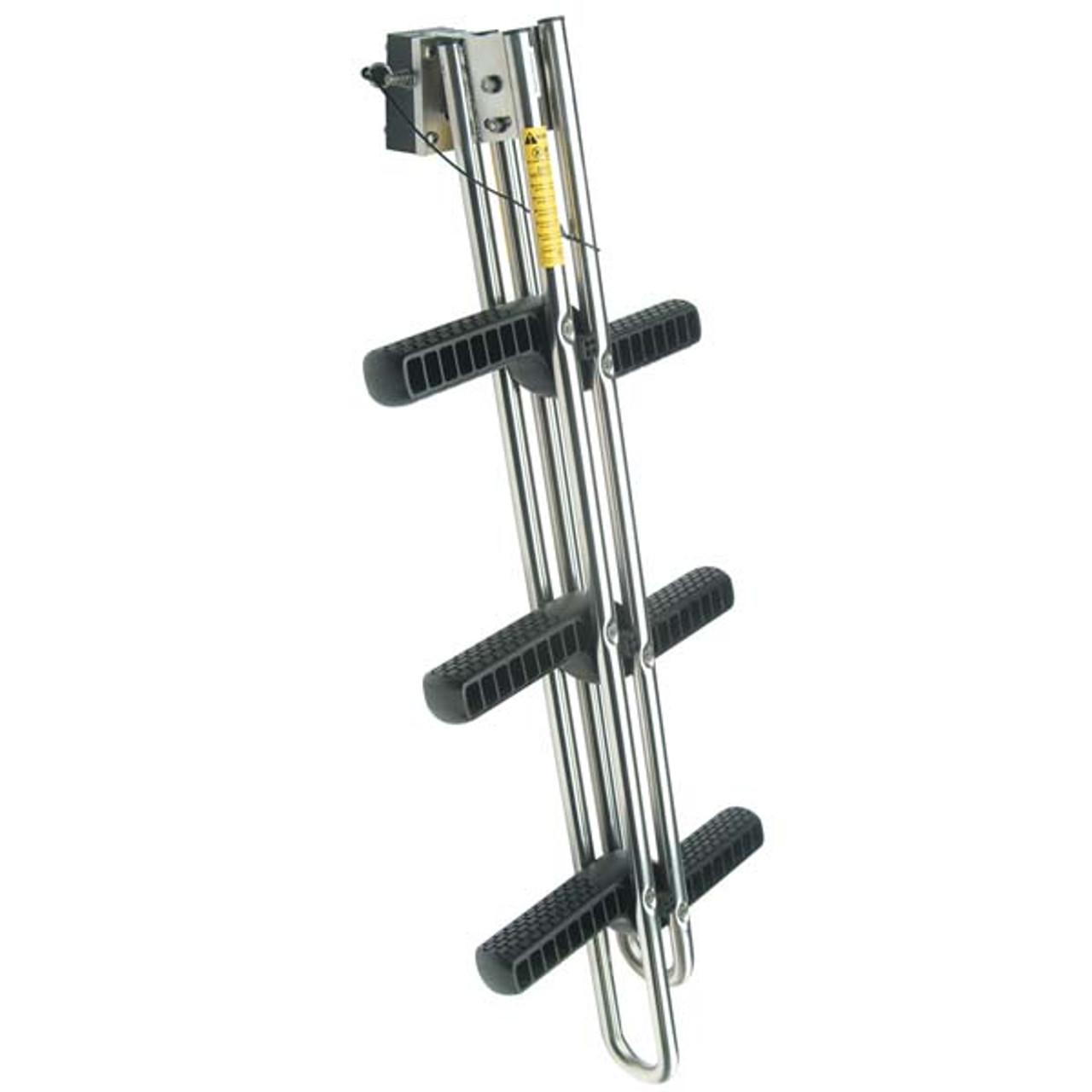 4 Steps Stainless  Sport Diver Ladder Dual Vertical Telescoping Tube Swin Ladder