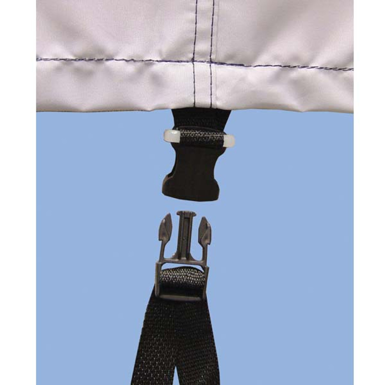 2 pack Boat Cover Quick-On Tie-Down Strap Kit
