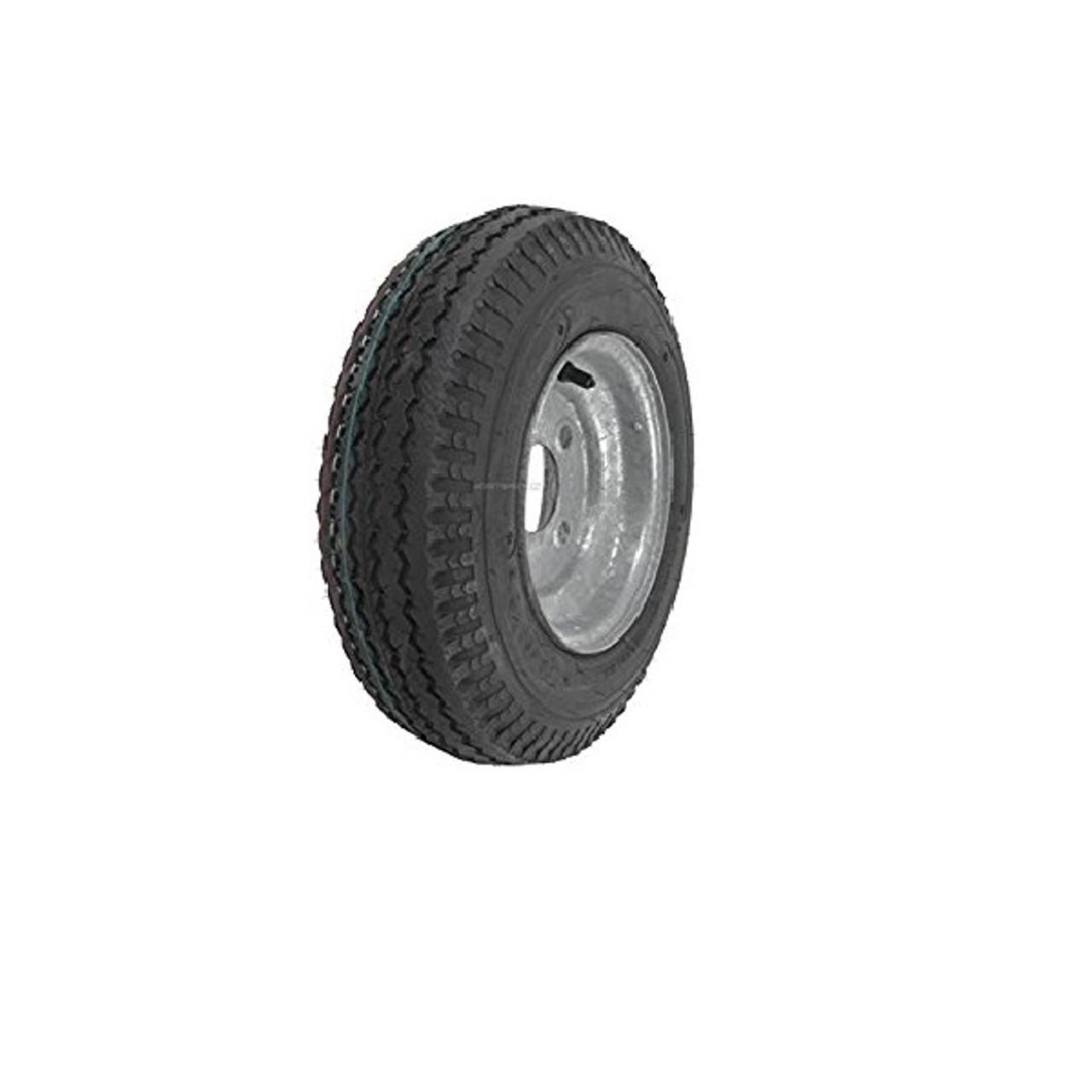 Trailer Tire On Rim 480-12 4.80-12 LRC Bias 5 Lug Galvanized Spoke