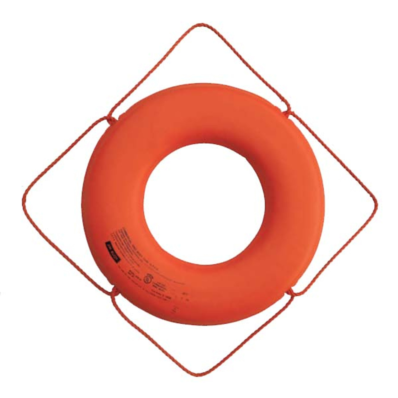 "Cal-June USCG Approved 30/"" No Strap Life Ring Orange"