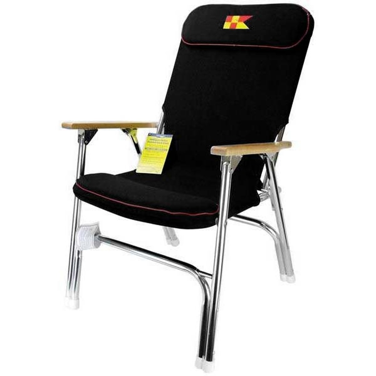 Pleasant Garelick Padded Folding Deck Chair Black Short Links Chair Design For Home Short Linksinfo